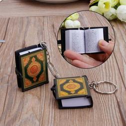1 PC Mini Ark Quran Book Real Paper Arabic The Koran Keychai