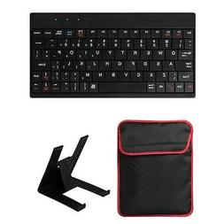 """10"""" Tablet PC Sleeve Bag Case Cover with USB Mini Keyboard &"""