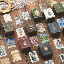 100Pc Mini Old Books Craft Card Diary Angel Planner Art Pain