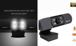 1080P Webcam, NP HD PC Webcam USB Mini Computer Camera Built