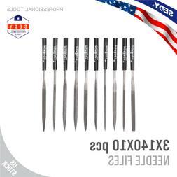 """10pc Mini Diamond Needle File Set 5.5"""" 140MM Ceramics Tile G"""