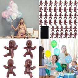 120 PC Mini Plastic African American Babies Baby Shower Ice