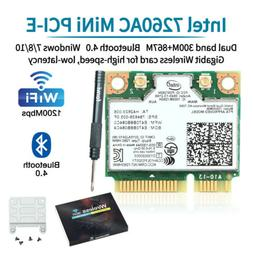 1200Mbps Wireless-AC Intel 7260HMW Mini PCI-E PC WiFi Networ