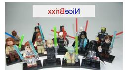 14pc/lot Star Wars Jedi and Sith Mini Figures