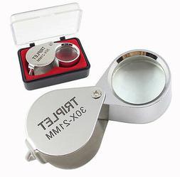 1Pc 30X 21mm Mini Folding Jeweler Loupe Magnifier Magnifying