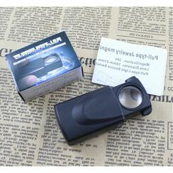 1PC Mini 30X LED Light Lamp Jeweler Magnifier Magnifying Eye