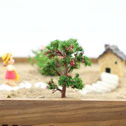 1Pc Mini Garden Ornament Miniature Resin Fruit Tree Craft Fa
