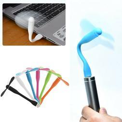 1PC USB Fan Flexible Portable Mini Fan For Laptop Desktop Co