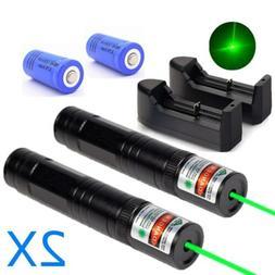 US Stock 2Pc Green Laser Pointer 532nm Mini Laser Pen 16340