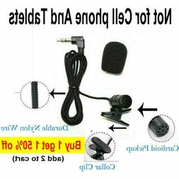 3.5mm Mini Lavalier Microphone Mic PC Laptop Nylon wired 2m/