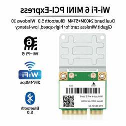 3000Mbps Mini PCI-E WiFi Card Intel AX200 chipest 2.4/5G 802