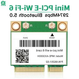 3000Mbps WiFi 6 Wireless Card Mini PCI-E Bluetooth 5.0 Dual