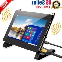 "5"" TFT LCD CCTV Monitor HD PC Screen HDMI 2*USB For Mini PC"