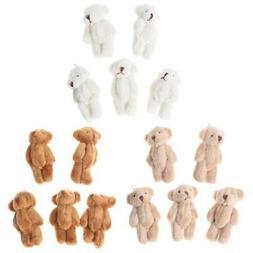 5PC CUTE Small Bears Plush Soft Toys Pearl Velvet Dolls Gift