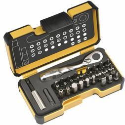 Felo 61545 XS 33 Pc Box Set SL/HX/PH/PZ/TX Bits w/ Mini Ratc