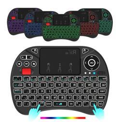8 Color RGB Backlit Mini Wireless Keyboard Rii X8 Remote for
