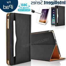 Apple iPad Air Soft Leather Wallet Smart Cover Sleep/Wake Fe