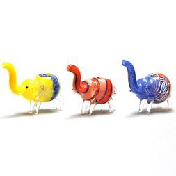 Authentic 7'' Glass Mini Elephant Animal Pipe Decoration 1pc
