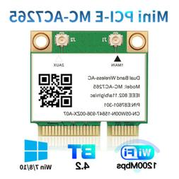 Dual Band WiFi Card Wireless-AC 1200Mbps 7265AC mini PCI-E P