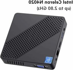 Fanless Mini PC Intel Celeron N4020 DDR4 4GB+64GB eMMC UHD 4