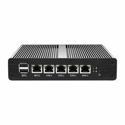 Fanless pFsense Firewall Mini Pc Intel Celeron  Router Windo