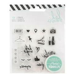 Heidi Swapp FRESH START  EVERYDAY Clear Mini-Stamps scrapboo