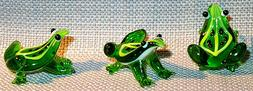 FROG MEADOWS PUDDLE JUMPER MINI Green Leaf Frog 0410 ART GLA