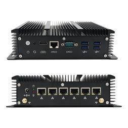 Mini PC Computer Intel Core i3 7167U 2.8GHz With 6 LAN Ports