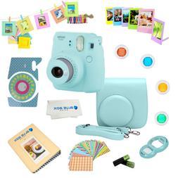 Fujifilm Instax Mini 9 instant Camera ICE BLUE + 15 PC Acces