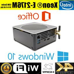 Intel Xeon E-2176M 16G RAM 512G/1TB SSD NUC Mini PC