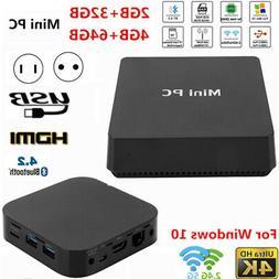 Mini PC Computer for Intel Z8350 LPDDR3 4GB RAM 64GB HDD 4Kx