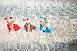"""Kitty Cat Art Glass MINI 1"""" sized 364 figurines assortd colo"""