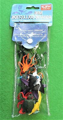 15pc Wild Republic Mini Aquatic Collection Toys Aquarium Dec