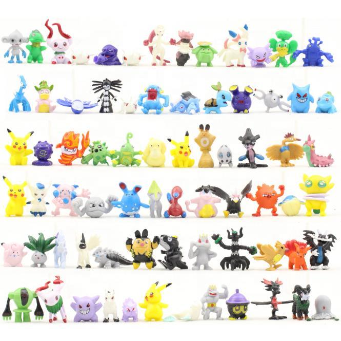 24Pc Random Mini Pokemon Action Figures - For Kids - Sealed