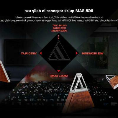 AA-B4 4K Mini PC 8G+192G Quad Core Dual WiFi BT4.0 HDMI For