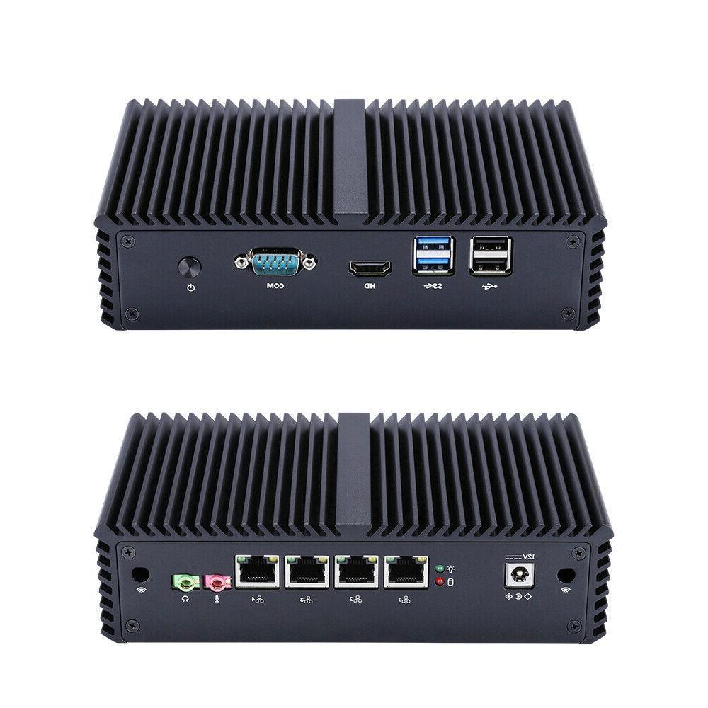 mini pc dual core 4 ethernet lan
