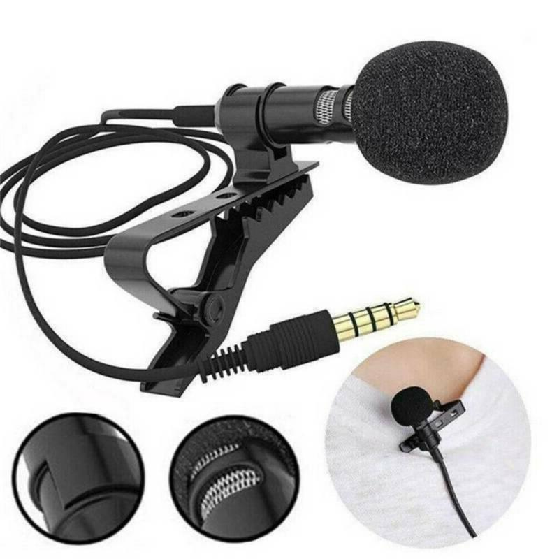 Mini Lavalier Mic Microphone For Recording 3.5mm USA