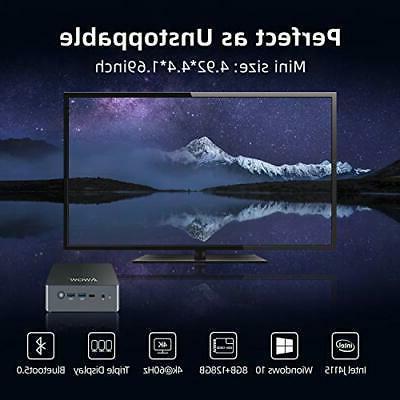 Mini AWOW Desktop Windows 10 Intel J4115 8GB