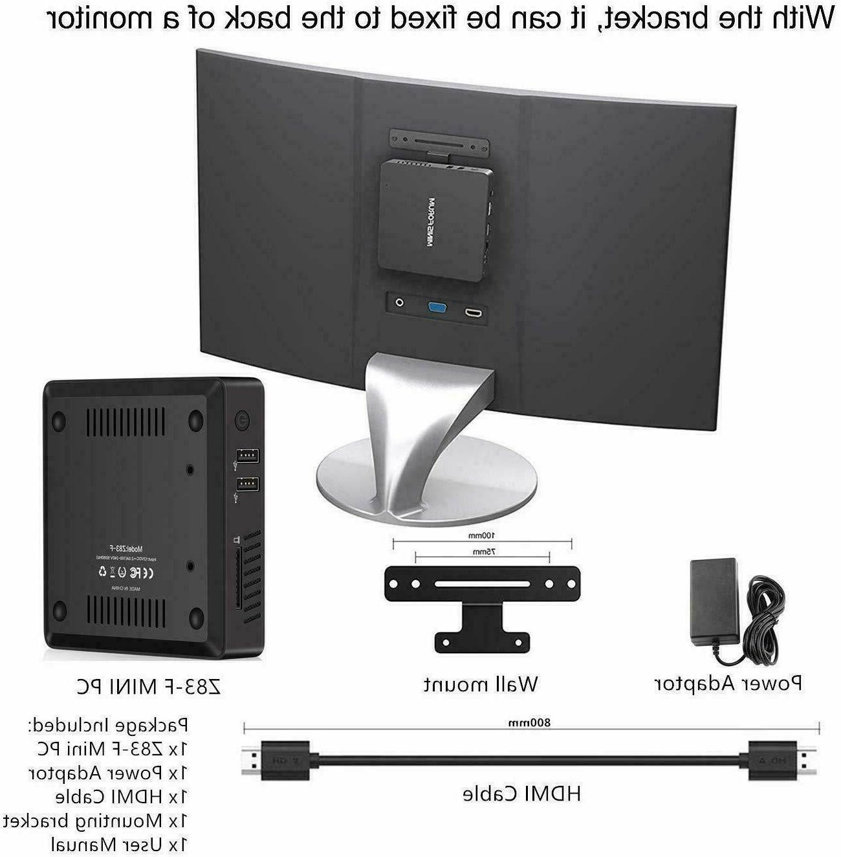 Mini Quad-Core Fanless HD Atom x5-Z8350 4GB HDMI&VGA