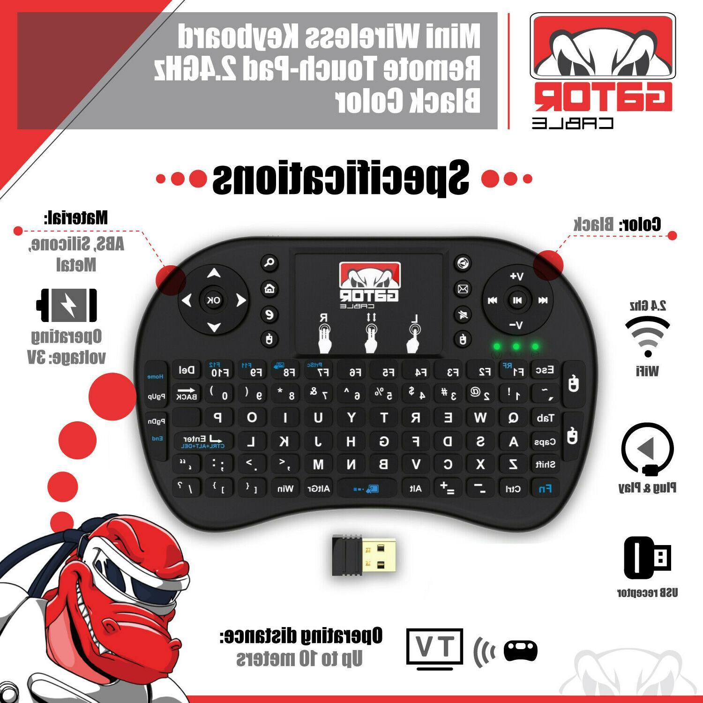 Mini Wireless Keyboard Remote Control 2.4GHz Smart TV TV PC