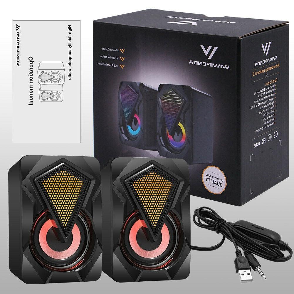 Portable Mini Speakers, 2.0 USB 3.5mm Jack Laptop