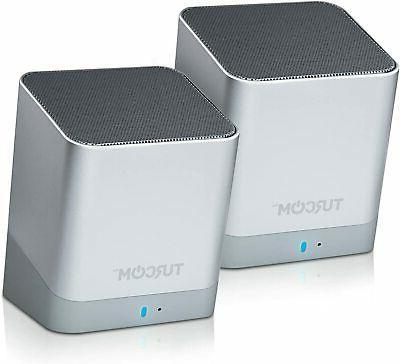 stereo computer speakers wireless dual bluetooth mini