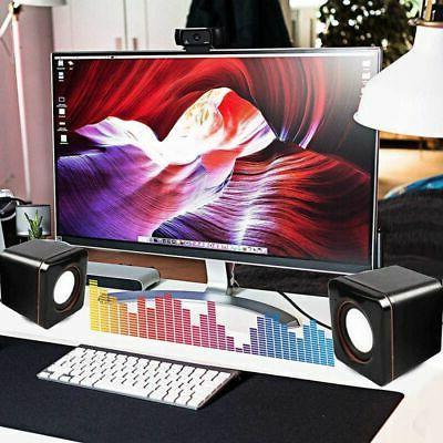 USB Speaker Subwoofer for Desktop Notebook Tablet