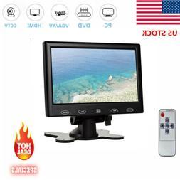 "Mini 7"" LCD CCTV Monitor HD PC Screen HDMI VGA AV RCA for Ra"