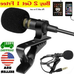 Mini Lavalier Mic Microphone For Cell Phone PC Recording 3.5