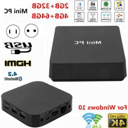 Mini PC Computer for Intel Z8350 LPDDR3 4GB RAM 64GB HDD 4Kx