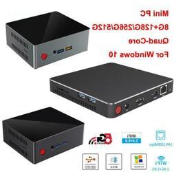 Mini PC CPU Quad Core Desktop Computer 8G RAM 128/256/512G H