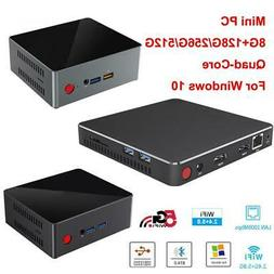 Mini PC CPU Quad Core Desktop Computer 8GB RAM 128G/256G/512