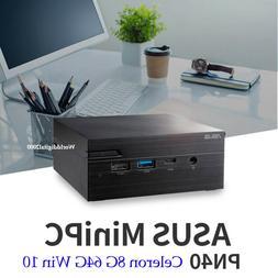 ASUS Mini PC PN40 Celeron UHD600 4K 8G 64GB Window 10 Pro  D