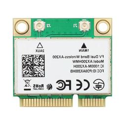 Mini PCIE Wifi 6 Network Card Wireless AX200HMW Dual Band Bl